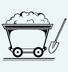 Mining cart vector image vector image