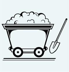 Mining cart vector