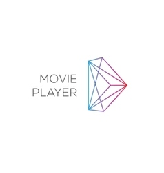 Movie player abstract colored play logotype vector image vector image