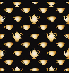 Pattern with a gold cups vector
