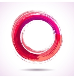 Pink and marsala fashion styled watercolor ring vector image vector image