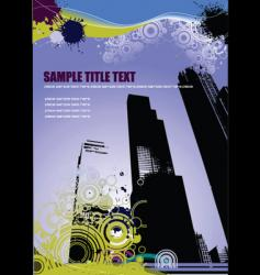 poster background vector image vector image