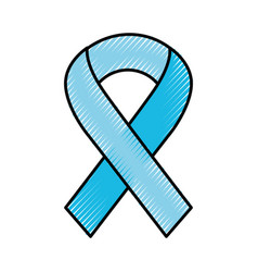 Scribble awareness ribbon vector