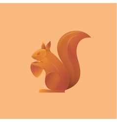 Squirrel holding an acorn high-quality vector