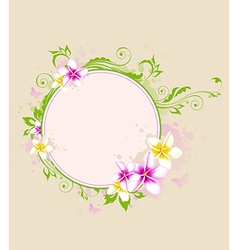 Tropical banner with flowers vector image