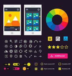 user interface phone laptop tab device vector image vector image