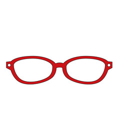 Vintage fashion glasses vector
