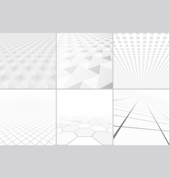 White backgrounds with perspective vector