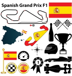 Spanish Grand Prix F1 vector image