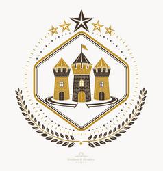 Heraldic coat of arms vintage emblem vector