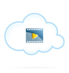 Cloud Movie Storage Icon vector image