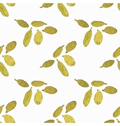 Seamless watercolor pattern with cardamom on the vector