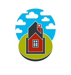 Simple house countryside idea abstract ima vector