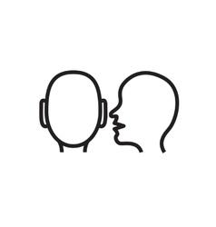 Whisper icon in  Whisper outline concept vector image