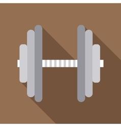 Metallic barbell icon flat style vector image