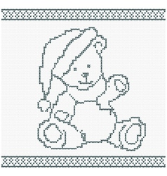 a Knitted Bear vector image vector image
