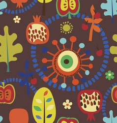 Autumn fantasy seamless pattern vector