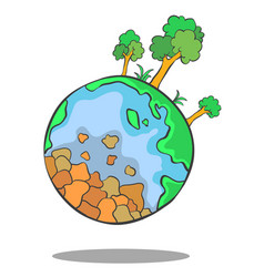 bad environment world collection doodles vector image
