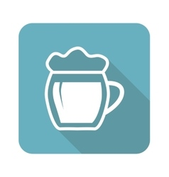 Beer icon square vector
