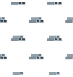 Concrete or metal constructions pattern flat vector