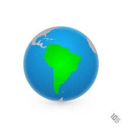 continent south america vector image