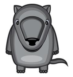 Cute baby wolf vector