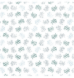 decorative pattern with drawn branches background vector image vector image