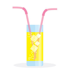 fresh summer drink vector image