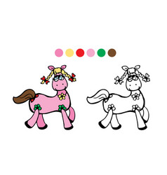 horsecolor black and white vector image vector image