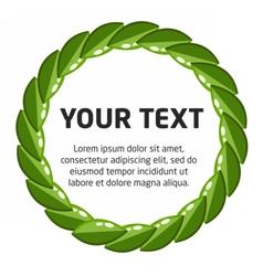 Laurel wreath template vector