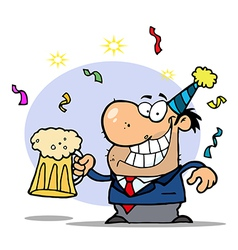 Man Toasting At A New Years Party vector image