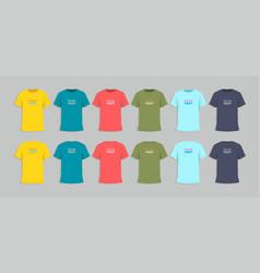 mens tshirt design templat vector image vector image