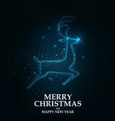 Merry christmas card- christmas reindeer vector