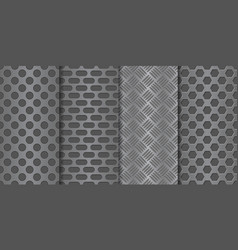 Metal perforated background seamless pattern vector