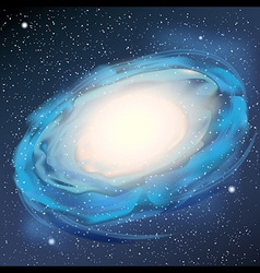 Milky Way realistic vector image