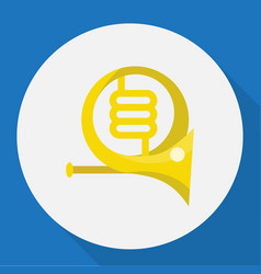 of mp3 symbol on french horn vector image