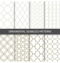 Ornamental grid patterns in vintage style - vector