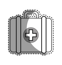 silhouette first aid kit medications tools vector image