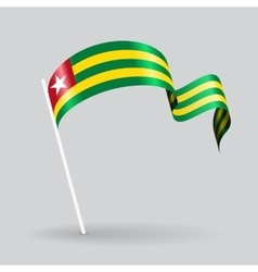 Togolese wavy flag vector image