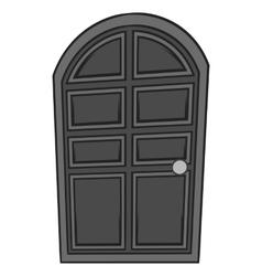 Wooden door icon black monochrome style vector