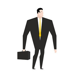 Businessman with briefcase manager in black formal vector