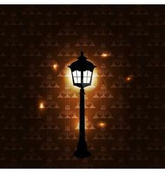 Vintage background with lantern vector