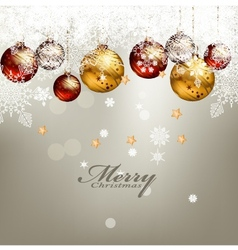 Beauty christmas card background vector