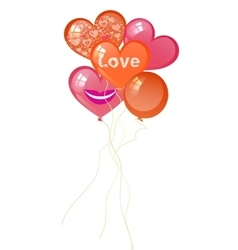 balloons Valentine s Day in the form of heart vector image