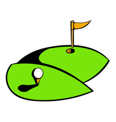Golf course icon icon cartoon vector
