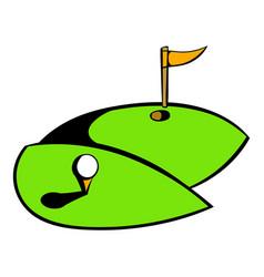 golf course icon icon cartoon vector image