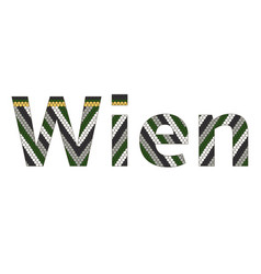 Wien city typography stephansdom roof background vector