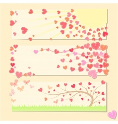 Pretty valentine cards vector