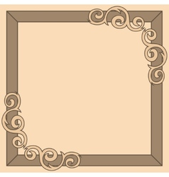 Brown decorative ornate frame vector