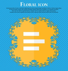 Left-aligned icon sign floral flat design on a vector